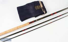 Bruce & Walker salmon rod 15ft 3pc in a Hardy cloth bag, good condition
