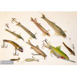 Collection of Percy Wadhams Nature Baits and other similar style Fishing Lures (10) 2x Percy Wadhams