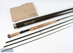 Sage Z-Axix 8129-4 fly rod 12ft 9ins 7 5/8oz, line 8, 4pc, good – used condition, in MCB and alloy