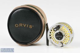 """Orvis Battenkill BBS I titanium finish 2 ½"""" fly reel with black smooth foot and handle, quick"""