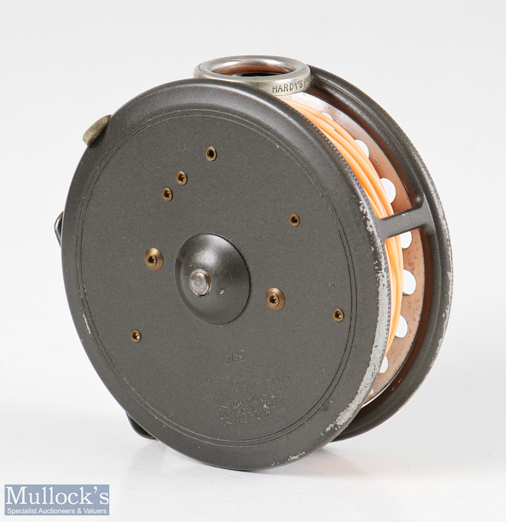 """Hardy Bros England 3 ¾"""" St George alloy fly reel with presentation engraving to faceplate 'Tullibole - Image 3 of 3"""