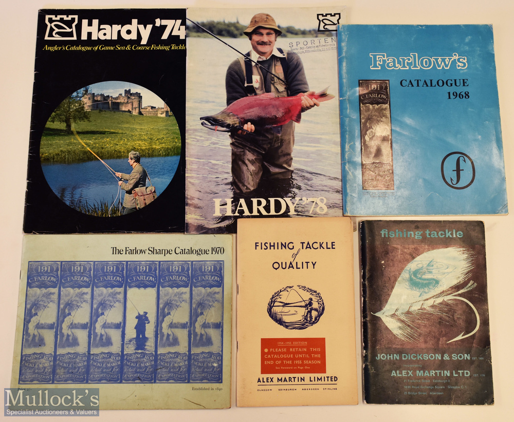 Selection of Vintage Fishing Tackle Catalogues including 1954/55 Alex Martin, c1962 Alex Martin, The