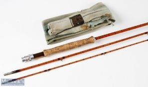 Hardy's 'The De-Luxe' split cane fly rod 9ft 3pc, MCB has mouse holes, light use