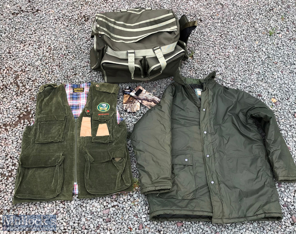 Masterline wanderer cord fishing vest XL together with a regatta jacket XL and Catchcarp classic