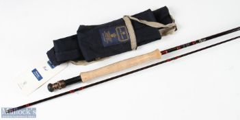 Fine Hardy Graphite De-Luxe fishing rod 10ft 2pc line 7/8, appears new, plastic on handle and