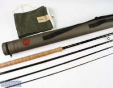 Hardy Bros Sirrus Salmon carbon fly rod 15ft 4pc line 10#, light use in MCB and cordura tube