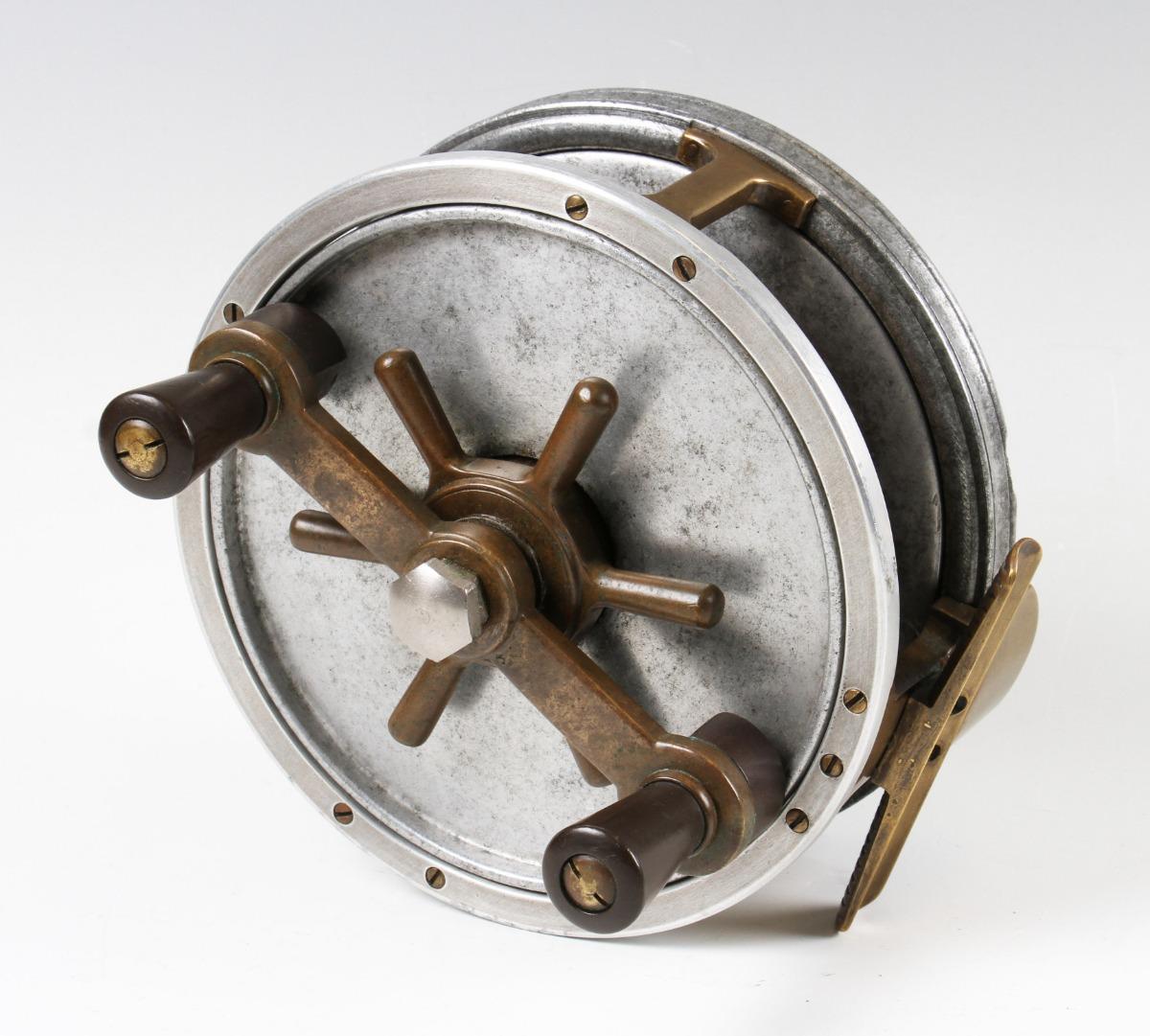 """Hardy Bros Alnwick 7"""" Fortuna Big Game Sea reel with Capstan adjustable brake wheel, twin black"""