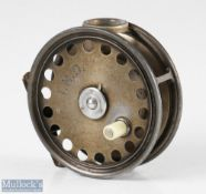"""Hardy Bros 3 ¾"""" St George alloy trout fly reel with agate line guide (crack), rim tensioner,"""