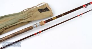 Hardy's Richard Walker Avon 10ft 2pc glass rod comes with makers rod bag