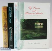 """3x Fishing Books – Mackie, Gordon """"Fly Leaves and Waterside Sketches"""" 1998 1st edition, Hammon, Bryn"""