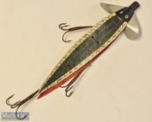 """Large and fine unnamed Allcocks Leather Swallow Tail – overall 8.5"""" c/w 3x 3 original whipped"""