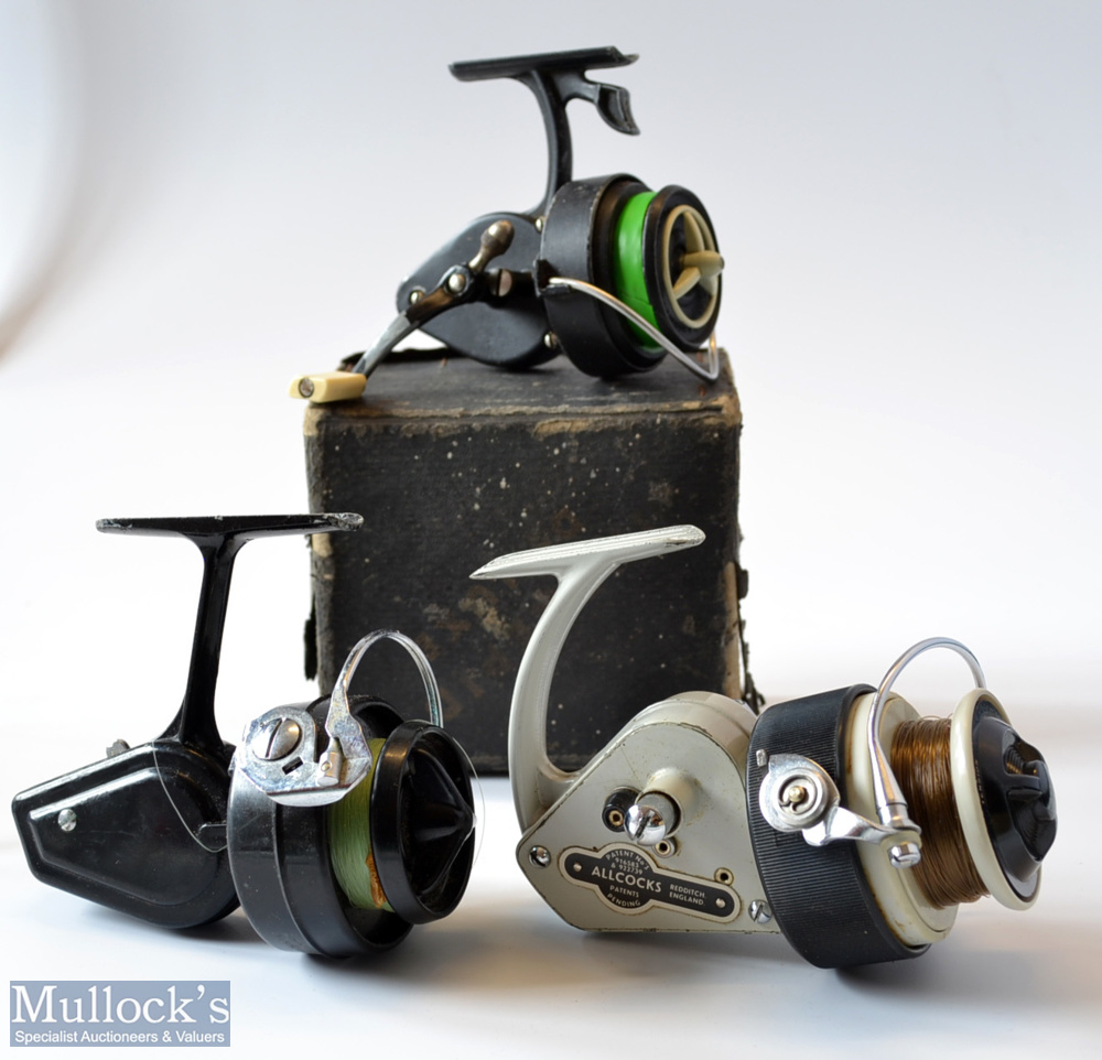 3x Spinning reels - Fine Allcocks Delmatic Mk Two fixed spool reel – LHW, folding handle, - Image 2 of 2