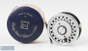 Hardy Bros England Marquis #6 Multiplier alloy trout fly reel with alloy smooth foot, quick