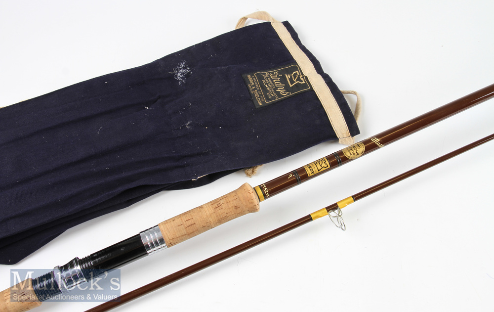 Hardy Bros Coastmaster 9ft spinning rod 2pc retailed by H. Monk of Chester with mcb