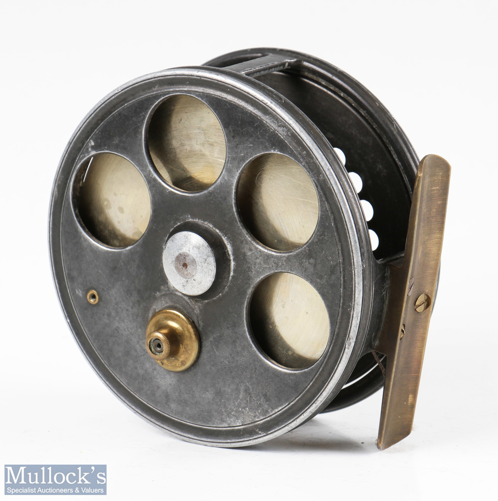 """C Farlow & Co London 'The Barrett Spinning Reel' 4"""" alloy drum reel with Holdfast Logo, four - Image 2 of 2"""