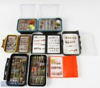 Trout Flies and Fly Boxes Selection – 7 fly boxes containing approx. 300 in total, all assorted