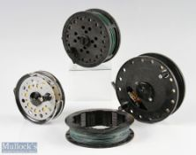 """Shakespeare Sigma 2860 4 ½"""" centrepin trotting reel and spool together with a Bob Church Still Water"""