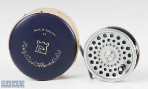 Hardy Bros England Marquis #7 alloy trout fly reel with smooth alloy foot, line guide, loaded with