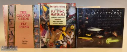 """3x Fishing Books on Fly Tying – Leiser, Eric """"The Book of Fly Patterns"""" 1987 1st edition, Hyatt,"""