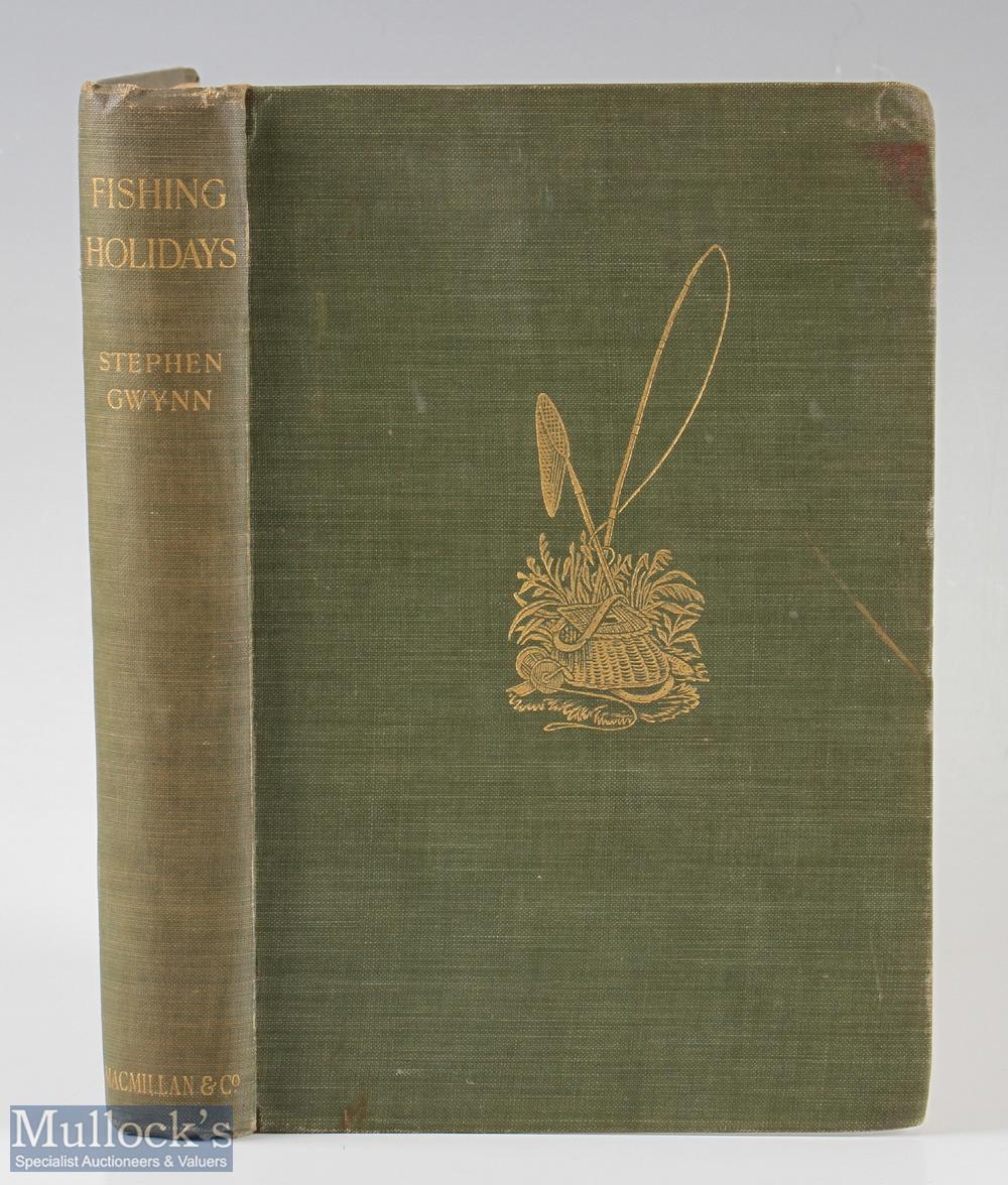 """Gwynn, Stephen – """"Fishing Holidays"""" 1904 1st edition, published by Macmillan & Co, London, in"""