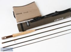 Fine Grey's Streamflex carbon fly rod 9ft 4pc line 4#, very lightly used with MCB and cordura tube