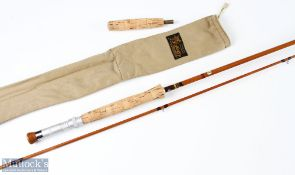 J S Sharpe of Aberdeen for Farlows, Scottie impregnated 2pc split cane fly rod 9ft 6ins line 7