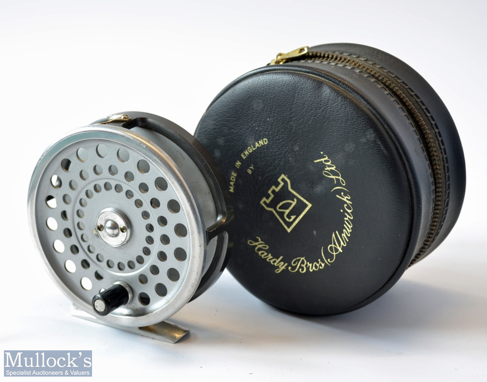 Hardy Marquis 8/9# alloy fly reel – double check mechanism, correct smooth alloy foot, U shaped
