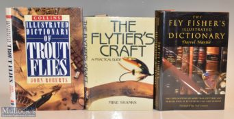 """3x Fly Fishing Related Books – Martin, Darrel """"The Fly Fisher's Illustrated Dictionary"""" 2000"""