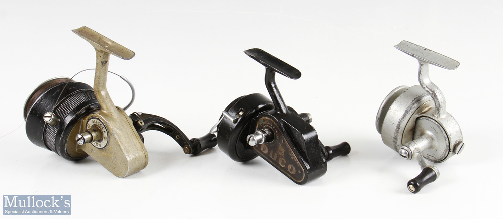 3x Allcocks fixed spool reels featuring an Allcocks Silver Superb with half bail arm, Allcocks - Image 2 of 2