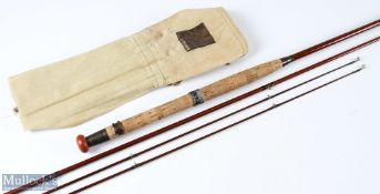 Hardy's 'The Alnwick' greenheart fly rod 10ft 3pc plus spare tip, in MCB
