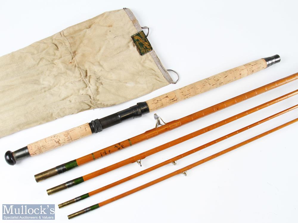 Rare Ogen Smiths, London, Split Cane, The Warrior light beach caster 12ft 3pc rod detachable butt