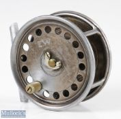 """Hardy Bros Alnwick Uniqua 4"""" Dup MkII Salmon fly reel smooth alloy foot, horse shoe latch, retaining"""