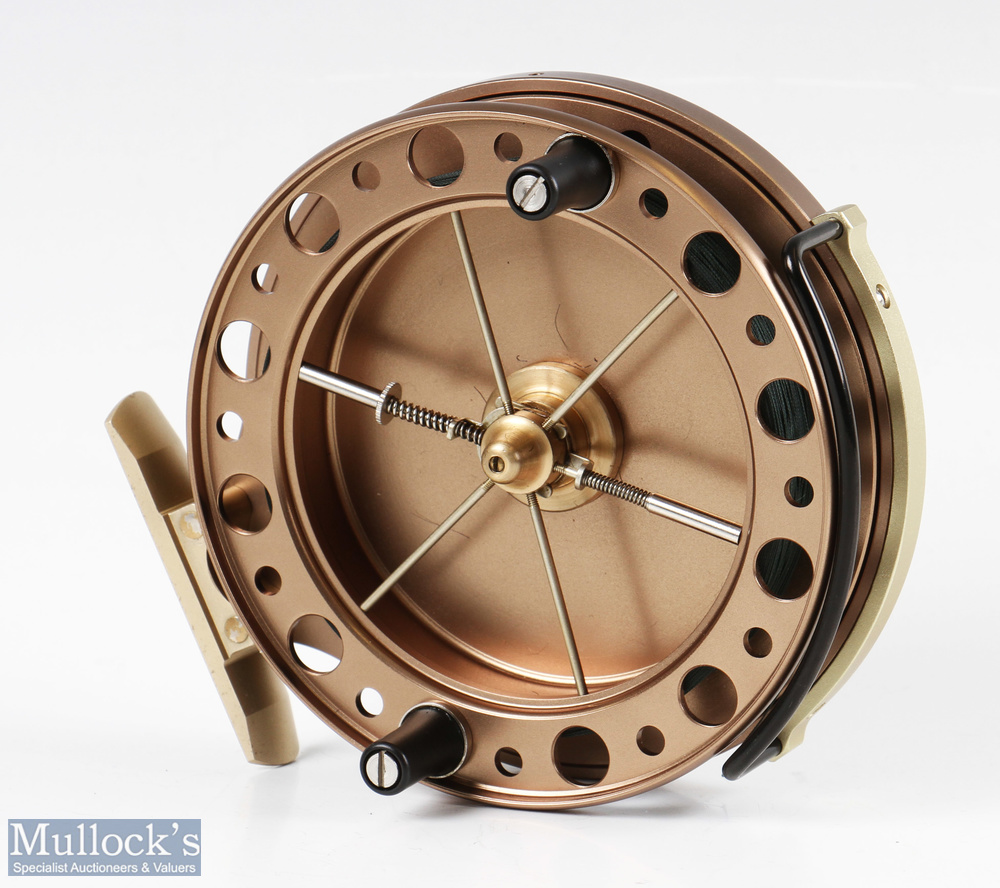 """J W Young & Sons Purist II 2041 4 ½"""" centrepin reel with twin handle, Bickerdyke line guide, - Image 2 of 3"""