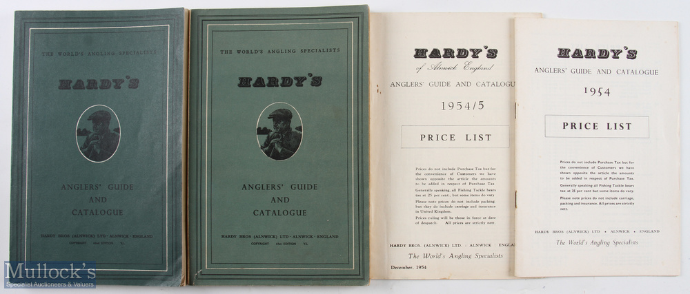 1954 and 1955 Hardy Bros Anglers' Guides 61st and 62nd editions with 1954 and 1954/55 price guide
