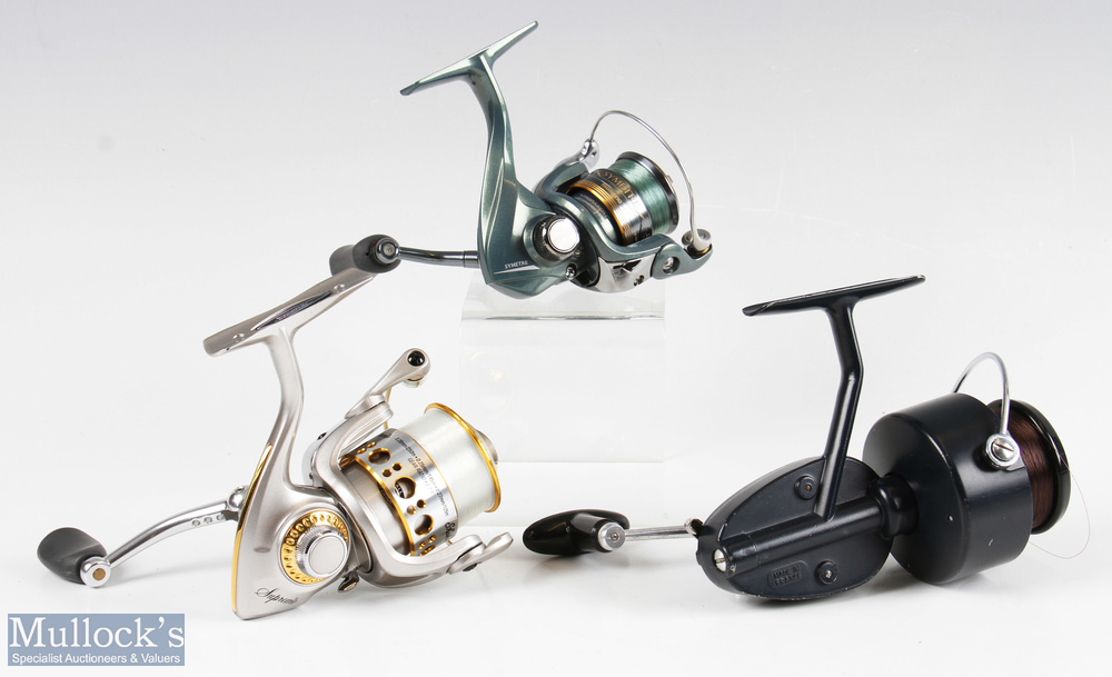 Garcia Mitchell 410 fixed spool reel and spool finished in blue, full bail arm etc, together with - Image 2 of 2