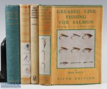"""4x Scott, Jock Fishing Books – """"Greased Line Fishing for Salmon"""" 1950 4th edition, """"The Truth"""