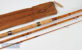 Allcocks 'Gloria' 12ft 3pc Spanish reed/cane rod with original rod bag – signs of light use