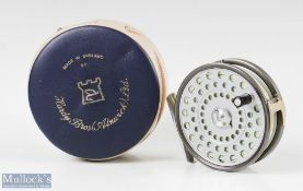 """Hardy Bros England Princess 3 ½"""" alloy fly reel narrow drum, smooth alloy foot, line guide, rim"""