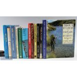 Selection of Fishing Books including Success with Salmon, Fly Fishing for Trout, Fly Dressing