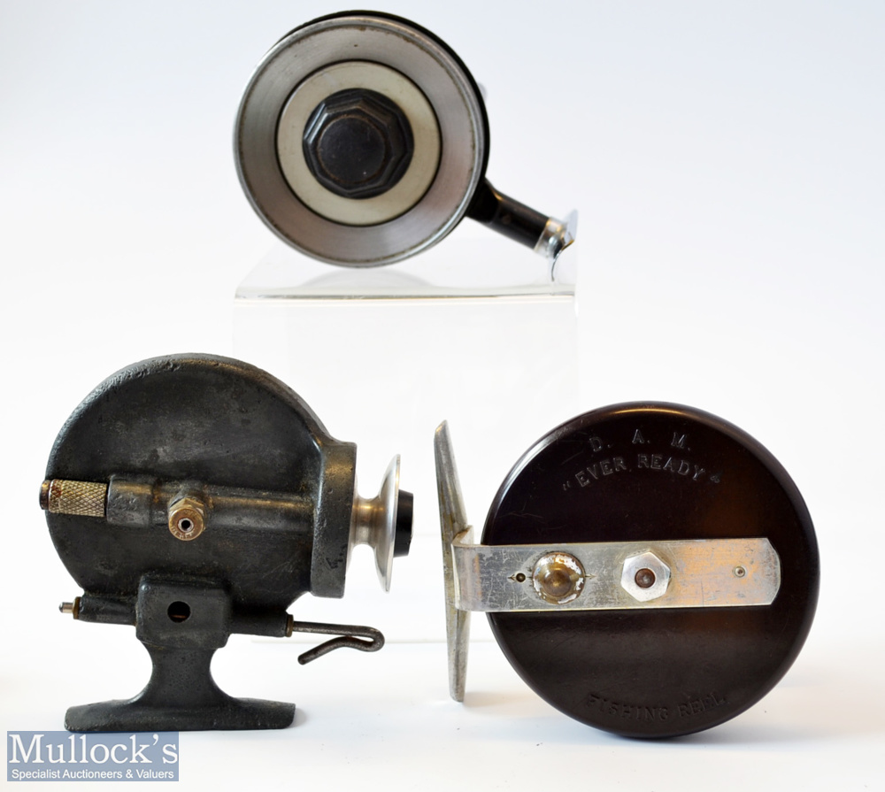 3x different style fishing reels – Allcock Stanley Threadline reel with alloy spool, very tiny chips - Image 2 of 2