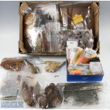 Collection of Fly Tying Feathers and Materials – incl mixed capes and feathers, pheasant, mallard,