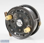 """Rare Forrest & Sons Maker Kelso 4 ½"""" The Tweed alloy Salmon fly reel pillared drum core, twin"""