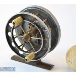 """Allcocks The Aerial 3"""" Alloy centre pin reel – stamped with the makers bordered Roundel logo to"""