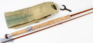 Hardy Bros 'The Wye' Palakona split cane salmon rod 11ft 2pc line 7 in MCB with spanner