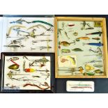 Good cross section of fishing lures, dead bait mounts, spoons, plugs, sand eels, artificial lures et