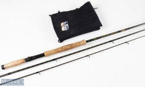 Daiwa Whisker Kevlar fly rod 11ft 3ins 3pc, 6-9 line, Tournament Osprey two handles – with soiled