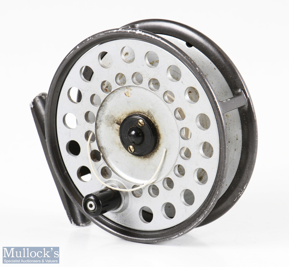 """Hardy Bros England Viscount 140 3 ½"""" alloy fly reel smooth alloy foot, good constant check, light"""