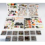 Large Mixed Fishing Fly Selection – containing a selection of small flies on foam mounts with 7 foam