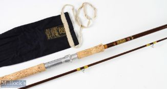 Hardy Bros Fibalite spinning rod, 8ft 6ins 2pc 7/8 lb, in MCB