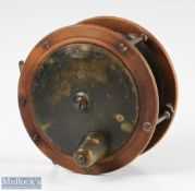 """Chevalier Bowness & Son 12 Bell Yard, Temple Bar London 4 ¼"""" ebonite and brass reel constant"""